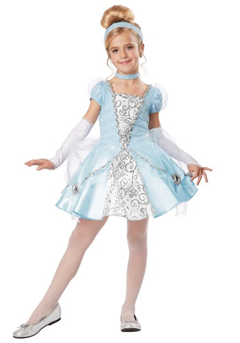 deluxe girls cinderella costume