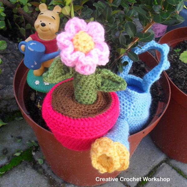 Flower Pot Play Set | Creative Crochet Workshop @creativecrochetworkshop