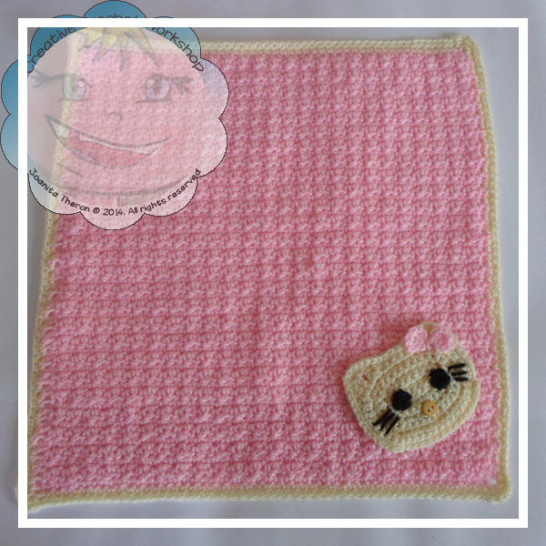 Hello Kitty Mini Blanket - Free Crochet Pattern | Creative Crochet Workshop @creativecrochetworkshop #freecrochetpattern