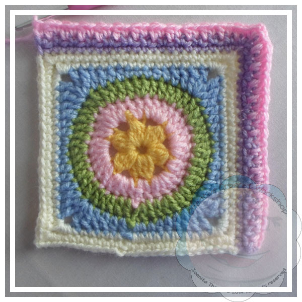 Scrapalicious Blanket Part Two - A Free Crochet Along | Creative Crochet Workshop #ccwscrapaliciousbag #crochetalong #scrapsofyarn