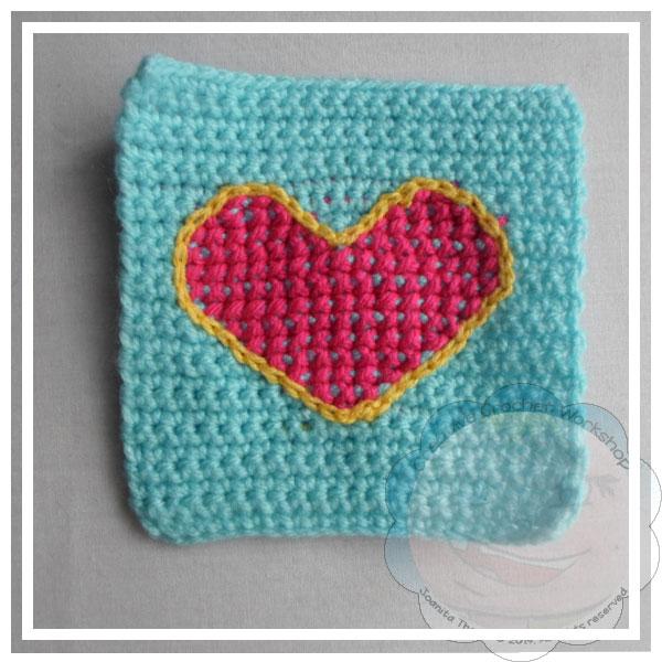 Scrapalicious Cushion Part Two - A Free Crochet Along | Creative Crochet Workshop #ccwscrapaliciouscushion #crochetalong #scrapsofyarn