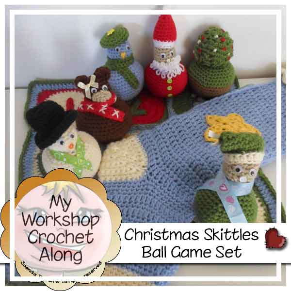 CHRISTMAS SKITTLES BALL GAME SET | CREATIVE CROCHET WORKSHOP