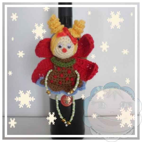 CHRISTMAS FAIRY WINE BOTTLE COZY|CREATIVE CROCHET WORKSHOP