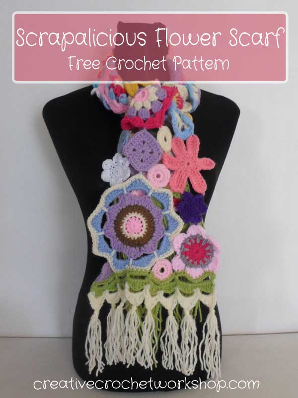 Scrapalicious Flower Scarf Introduction | Creative Crochet Workshop