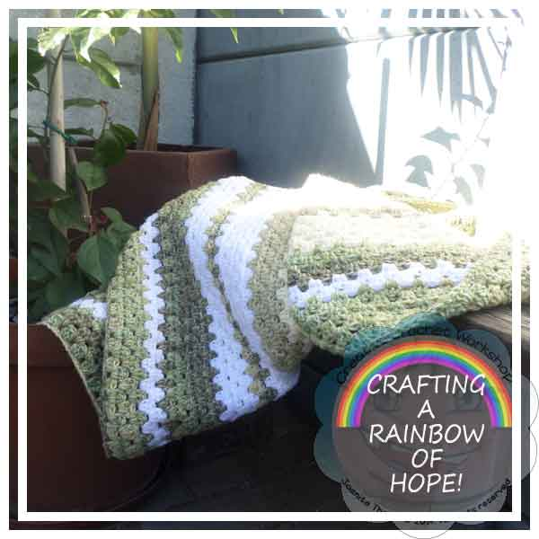 GRANNY STRIPE BLANKET|CRAFTING A RAINBOW OF HOPE|CREATIVE CROCHET WORKSHOP