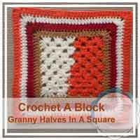 Granny Halves In A Square granny/afghan square