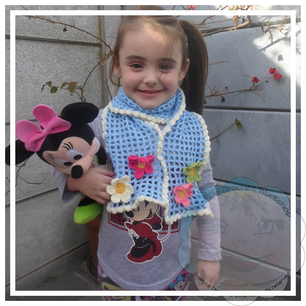 Little Girls Flower Scarf|Crafting A Rainbow Of Hope|Creative Crochet Workshop