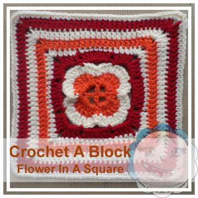 CROCHET A BLOCK SERIES|FLOWER IN A SQUARE|CREATIVE CROCHET WORKSHOP
