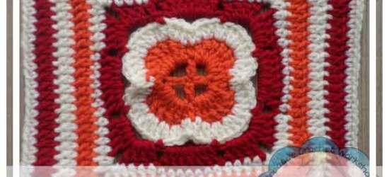 CROCHET A BLOCK SERIES|FLOWER IN A SQUARE|CREATIVE CROCHET WORKSHOP
