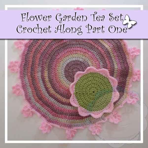 FLOWER GARDEN TEA SET CROCHET ALONG PART ONE|CREATIVE CROCHET WORKSHOP