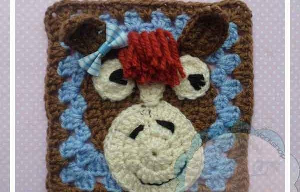 THE HORSY|CUTESY ANIMAL GRANNY SQUARE|CREATIVE CROCHET WORKSHOP