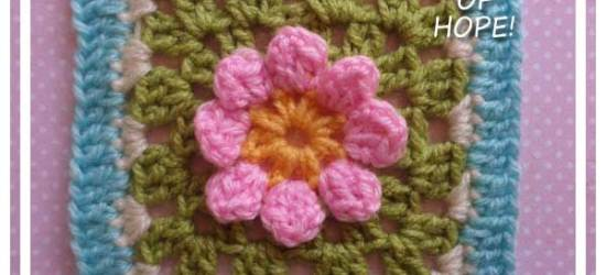 DAISY IN A SQUARE|RAINBOW SQUARE SERIES|CREATIVE CROCHET WORKSHOP