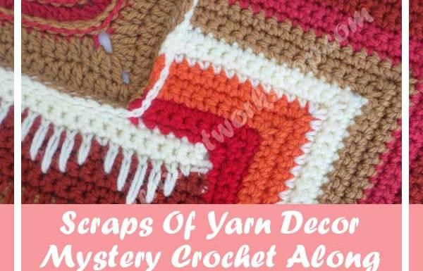 SCRAPS OF YARN CUSHION MYSTERY CAL|AUGUST 2016 PART SIX|CREATIVE CROCHET WORKSHOP
