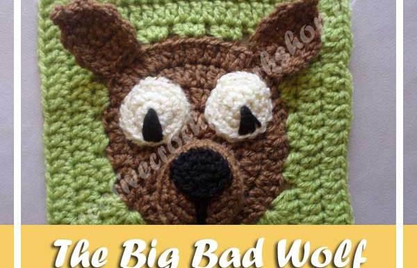 THE BIG BAD WOLF|FAIRY TALE GRANNY SQUARE| CREATIVE CROCHET WORKSHOP