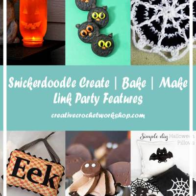 Snickerdoodle Create, Bake & Make Linky Party # 152 – Spooktacular