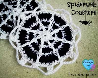 SPIDERWEB COASTERS | SNICKERDOODLE CREATE MAKE AND BAKE PARTY #152 SPOOKTACULAR | SEWING AND CROCHET
