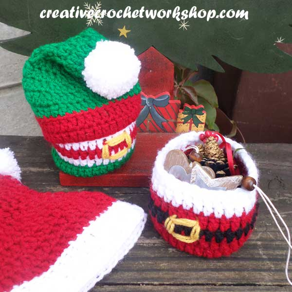 PREVIEW OF CHRISTMAS GIFTS BASKETS | CREATIVE CROCHET WORKSHOP