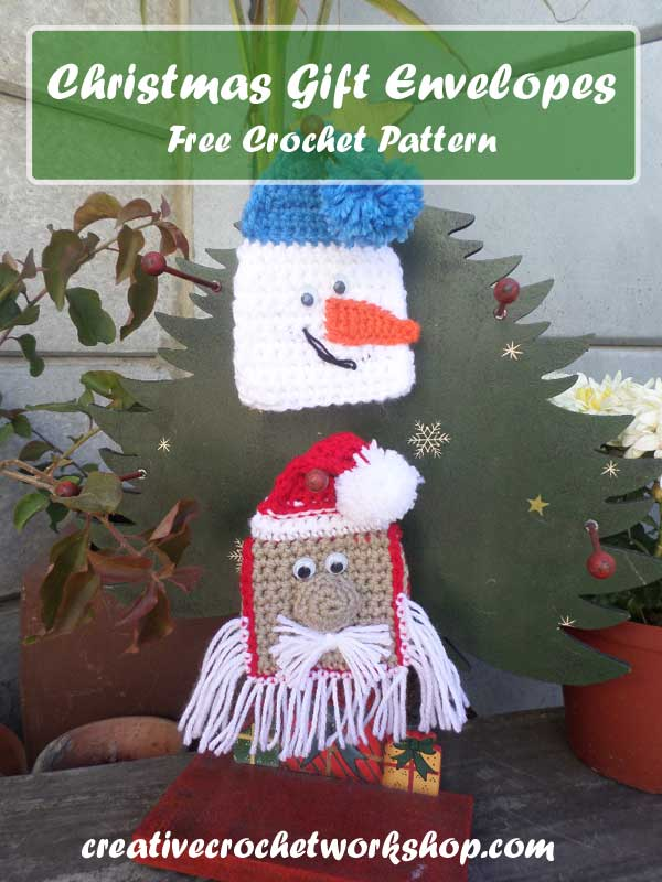 CHRISTMAS GIFT ENVELOPES | FREE CROCHET PATTERN | CREATIVE CROCHET WORKSHOP