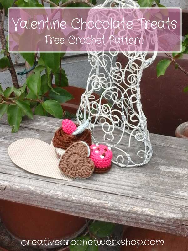 Valentine Chocolate Treats | Free Crochet Pattern | Creative Crochet Workshop
