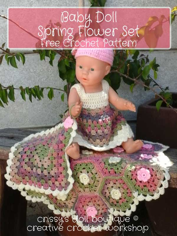 Baby Doll Spring Flower Set - Free Crochet Pattern | Creative Crochet Workshop