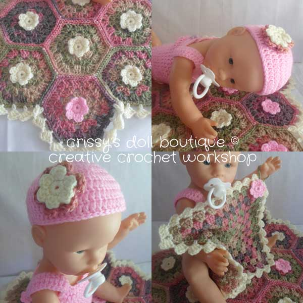 Spring Flower Set - Free Crochet Pattern - collage | Creative Crochet Workshop