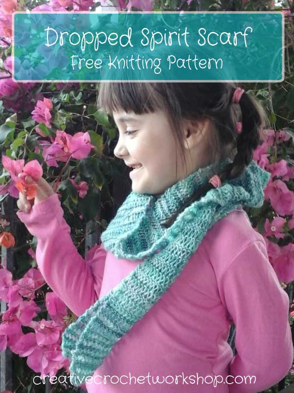 Dropped Spirit Knit Scarf | Free Knitting Pattern | Creative Crochet Workshop