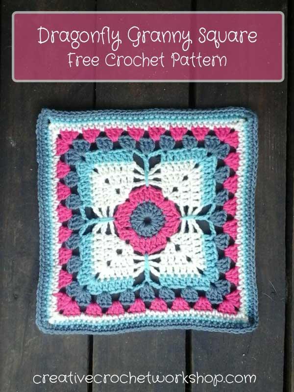 Dragonfly Granny Square | Creative Crochet Workshop