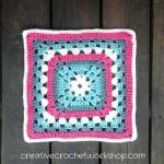 Flower Cluster Cross Granny Square