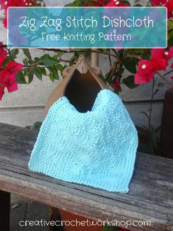ZigZag Stitch Dishcloth - Free Knitting Pattern | Creative Crochet Workshop