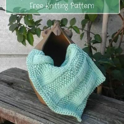 STRIPED MOSS STITCH DISHCLOTH – Knitted Kitchen Blog Hop 2017