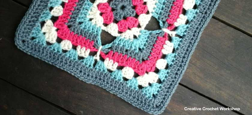 Four Point Butterfly Granny Square - Feature Image | Creative Crochet Workshop @creativecrochetworkshop