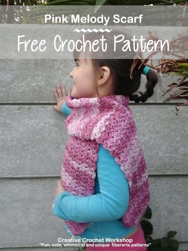 Pink Melody Scarf - Free Crochet Pattern | Creative Crochet Workshop @creativecrochetworkshop