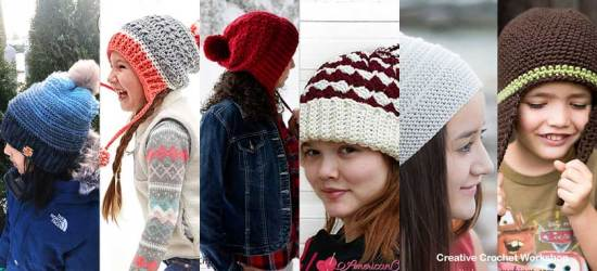 Winter Slouchy Fun- Free Crochet Pattern Round Up Feature Image  Compiled by Creative Crochet Workshop @creativecrochetworkshop