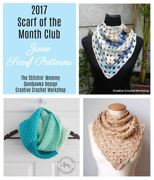 #SCARFOFTHEMONTHCLUB2017 | June Scarf Patterns