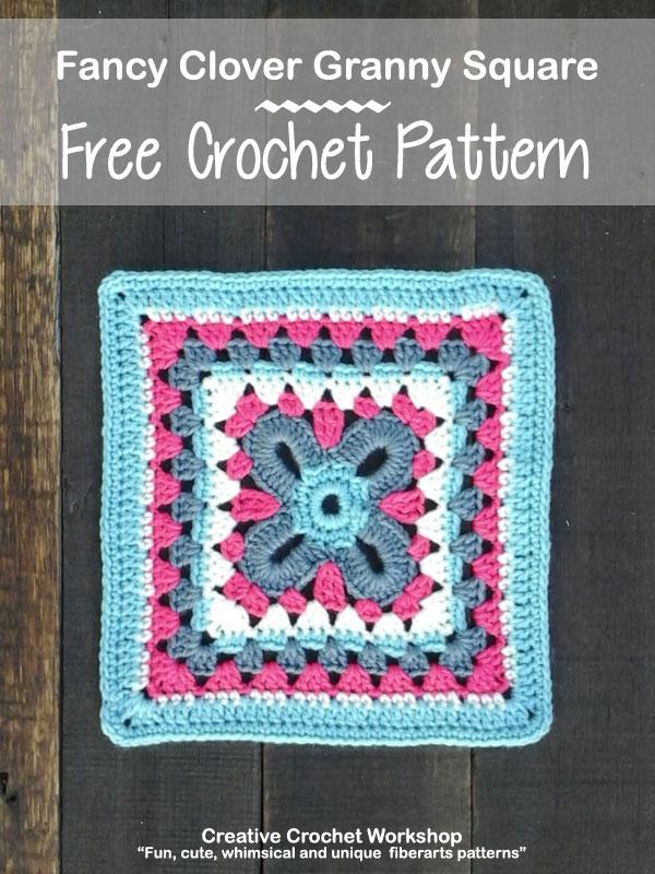 Fancy Clover Granny Square Creative Crochet Workshop