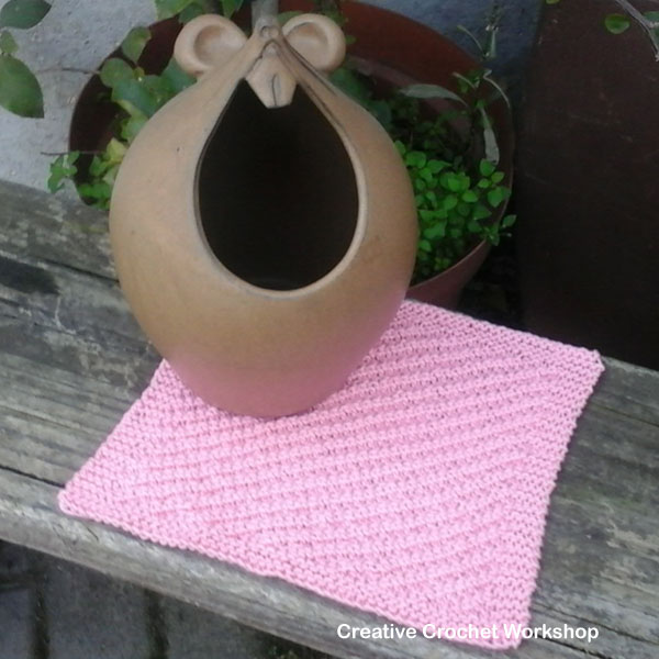 Oblique Rib Dishcloth - Knitted Kitchen Blog Hop | Creative Crochet Workshop @creativecrochetworkshop #knittedkitchen