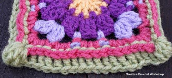 Peace Petal Flower GrannySquare - Free Crochet Pattern | Creative Crochet Workshop @creativecrochetworkshop #grannysquare #freecrochetpattern #groovygrannysquarecal