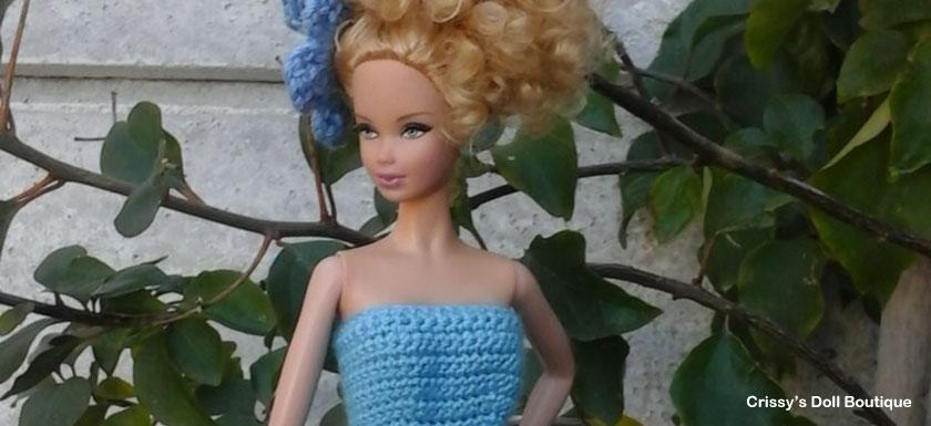 Blue Petal Fairy Dress   Cherry's Boutique   Crissy's Doll Boutique @crissysdollboutique