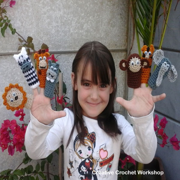 Wild Animal Finger Puppets - Free Crochet Pattern | Creative Crochet Workshop @creativecrochetworkshop