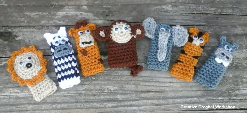 Wild Animal Finger Puppets Creative Crochet Workshop