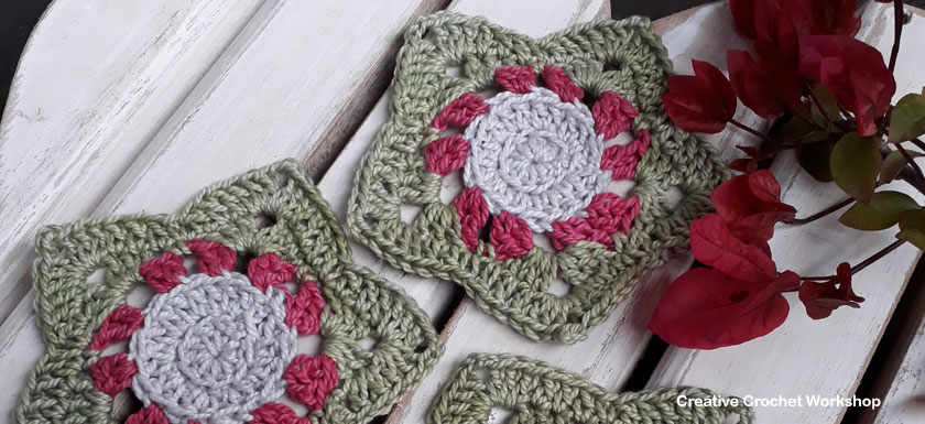 Christmas Wish Star Coasters | 2017 Holiday Blog Hop | Creative Crochet Workshop @creativecrochetworkshop #freecrochetworkshop #2017holidaybloghop