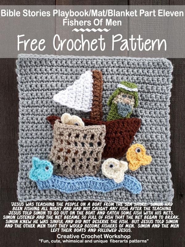 My Bible Stories Playbook Part Eleven | Free Crochet Pattern | Creative Crochet Workshop @creativecrochetworkshop #ccwbiblestoriescrochetalong