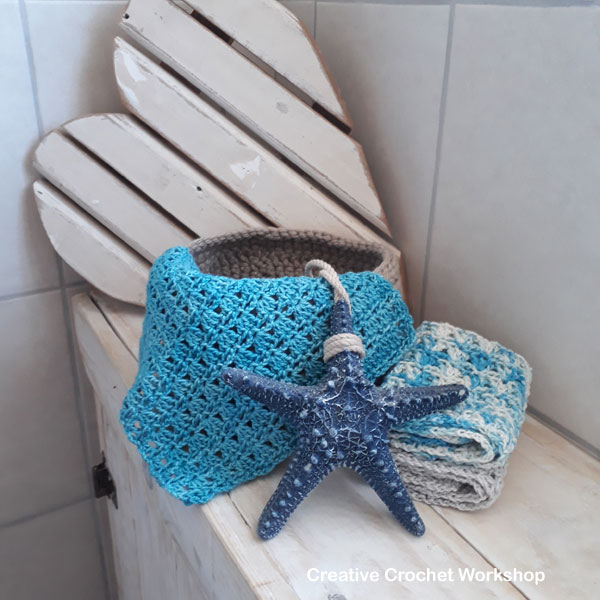 Country Ocean Bathroom Set | Creative Crochet Workshop #ChristmasGiftAlong2017