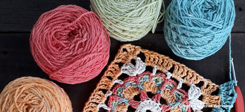 Crochet A Block Afghan 2018 | Creative Crochet Workshop @creativecrochetworkshop #freecrochetalong #grannysquare #afghansquare