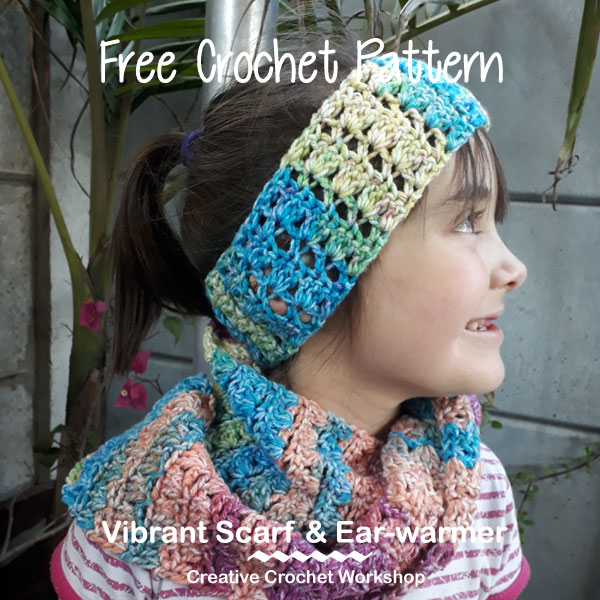 Vibrant Scarf And Ear-warmer | Creative Crochet Workshop #ChristmasGiftAlong2017