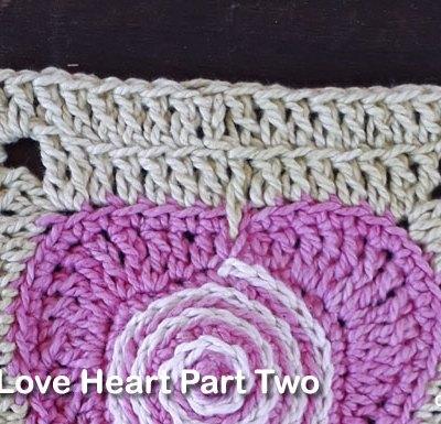 Psychedelic Love Heart Part Two - Free Crochet Pattern | Creative Crochet Workshop | #ccwpsychedelicloveheart #crochetalong #crochet @creativecrochetworkshop