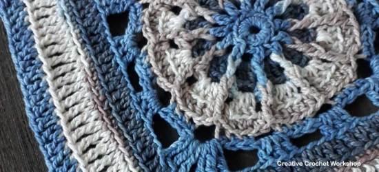 Bahari Afghan Square | Creative Crochet Workshop @creativecrochetworkshop #freecrochetpattern #grannysquare #afghansquare #crochetalong #ccwcrochetablock2018