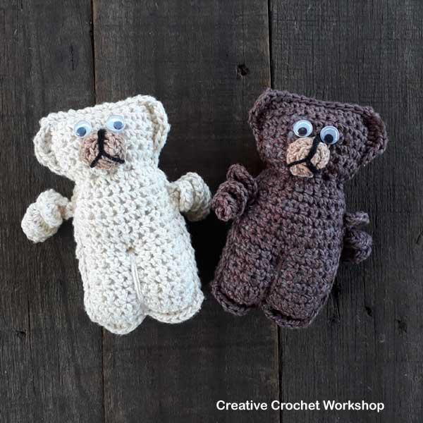 Fold Up Teddy Crochet Play Set Teddy Dolls | Free Crochet Along | Creative Crochet Workshop #crochet #crochetalong #crochetplay #ccwfoldupteddybag