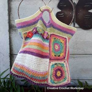 Scrapsadelic Groovy Bag - A Free Crochet Along | Creative Crochet Workshop #ccwscrapsadelicgroovybag #crochetalong #scrapsofyarn