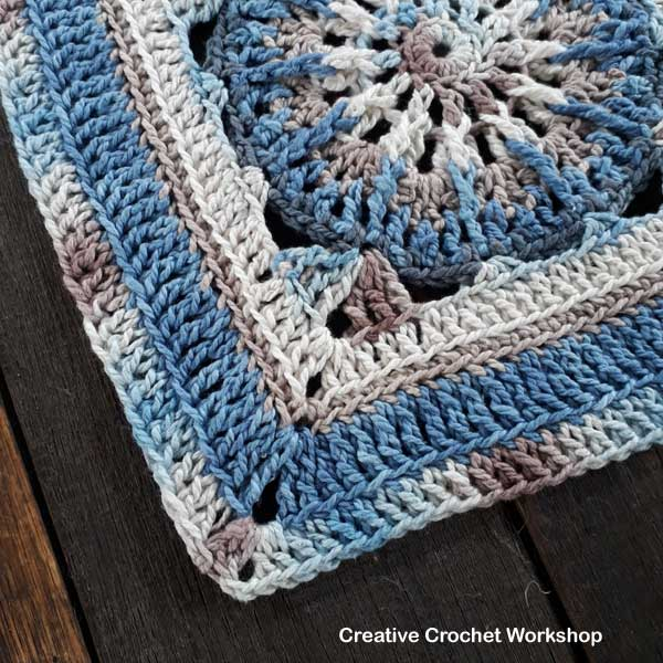 Galia Afghan Square | Creative Crochet Workshop @creativecrochetworkshop #freecrochetpattern #grannysquare #afghansquare #crochetalong #ccwcrochetablock2018